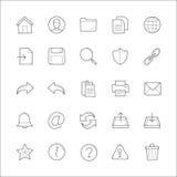 Γενικά συρμένα doodle χέρι εικονίδια ιστοχώρου Στοκ Φωτογραφία