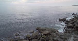 Γενική άποψη της ακτής Cantabric απόθεμα βίντεο