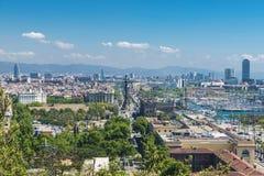 Γενική άποψη της Βαρκελώνης Στοκ φωτογραφίες με δικαίωμα ελεύθερης χρήσης