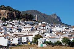 Άσπρη πόλη, Ardales, Ανδαλουσία, Ισπανία. Στοκ Εικόνες