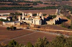 Γενική άποψη του μοναστηριού Poblet στοκ εικόνες