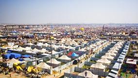 Γενική άποψη του φεστιβάλ Kumbh Mela σε Allahabad, Ινδία Στοκ Φωτογραφίες