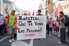 γενική απεργία της Ισπανί&alpha Στοκ Εικόνες
