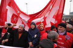 γενική απεργία Τουρκία Στοκ Εικόνα