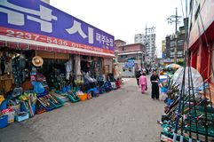 Γενική αρχιτεκτονική οδών της Σεούλ Νότια Κορέα Στοκ φωτογραφία με δικαίωμα ελεύθερης χρήσης