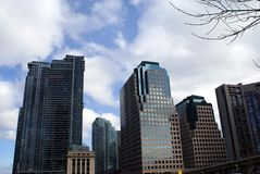 Γενική αρχιτεκτονική, ορίζοντας, κάτω από την πόλη, Τορόντο, Οντάριο, Καναδάς Στοκ Φωτογραφία