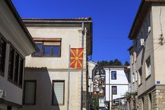 Γενική αρχιτεκτονική της πόλης της Οχρίδας σε FYR Μακεδονία Στοκ εικόνες με δικαίωμα ελεύθερης χρήσης
