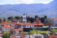 Γενική αρχιτεκτονική της πόλης της Οχρίδας σε FYR Μακεδονία Στοκ Εικόνα