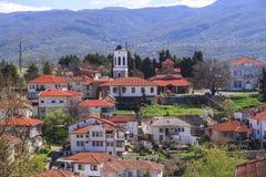 Γενική αρχιτεκτονική της πόλης της Οχρίδας σε FYR Μακεδονία Στοκ εικόνα με δικαίωμα ελεύθερης χρήσης