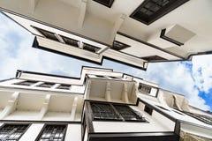 Γενική αρχιτεκτονική του παραδοσιακού σπιτιού Urania στην παλαιά πόλη της Οχρίδας Στοκ Εικόνες