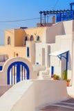 Γενική αρχιτεκτονική, χωριό Akrotiri στο νησί Santorini Στοκ Εικόνες