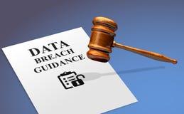 Γενική καθοδήγηση παραβιάσεων στοιχείων κανονισμού προστασίας δεδομένων GDPR απεικόνιση αποθεμάτων