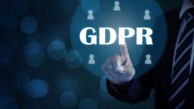 Γενική προστασία δεδομένων GDPR στοκ φωτογραφία με δικαίωμα ελεύθερης χρήσης