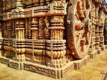 γενική της Ινδίας konark όψη ναών ήλιων σχεδίων δευτερεύουσα στοκ εικόνες