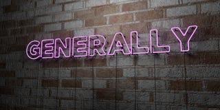 ΓΕΝΙΚΑ - Καμμένος σημάδι νέου στον τοίχο τοιχοποιιών - τρισδιάστατο δικαίωμα ελεύθερη απεικόνιση αποθεμάτων απεικόνιση αποθεμάτων