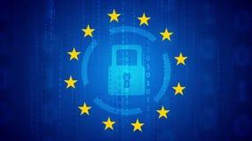 Γενικός κανονισμός προστασίας δεδομένων - υπόβαθρο GDPR απεικόνιση αποθεμάτων