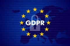 Γενικός κανονισμός προστασίας δεδομένων Στοκ Φωτογραφία