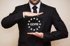 Γενικός κανονισμός GDPR προστασίας δεδομένων Στοκ φωτογραφίες με δικαίωμα ελεύθερης χρήσης