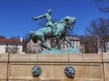 Γενικός κύκλος Washington DC της Sheridan αγαλμάτων Phil Sheridan Στοκ Φωτογραφία