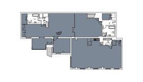 Γενικός floorplan για το διάστημα γραφείων ή σπιτιών Στοκ Φωτογραφίες