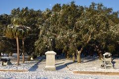 Γενικό άγαλμα Moultrie στο πάρκο μπαταριών, Τσάρλεστον, Sc Στοκ εικόνα με δικαίωμα ελεύθερης χρήσης