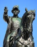 Γενικό άγαλμα της Dufour, Γενεύη, Ελβετία Στοκ Φωτογραφία