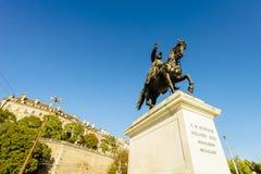 Γενικό άγαλμα του Γκιγιώμ-Henri Dufour, Γενεύη, Ελβετία Στοκ εικόνες με δικαίωμα ελεύθερης χρήσης