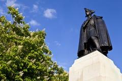 Γενικό άγαλμα του James Wolfe στο πάρκο του Γκρήνουιτς Στοκ Φωτογραφία