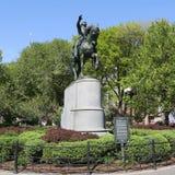 Γενικό ιππικό άγαλμα του George Washington στο τετράγωνο ένωσης στο Μανχάταν Στοκ Εικόνα