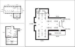 Γενικό σχέδιο ορόφων για έναν εμπορικό χώρο γραφείου Στοκ Εικόνες