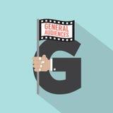 Γενικό σύστημα εκτίμησης ταινιών ακροατηρίων σύμβολο-αμερικανικό απεικόνιση αποθεμάτων