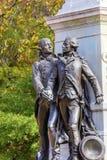 Γενικό φθινόπωρο Washington DC πάρκων του Λαφαγέτ αγαλμάτων του Λαφαγέτ Στοκ Φωτογραφία