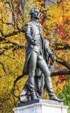 Γενικό φθινόπωρο Washington DC πάρκων του Λαφαγέτ αγαλμάτων του Λαφαγέτ Στοκ φωτογραφία με δικαίωμα ελεύθερης χρήσης