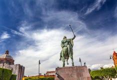 Γενικό Allende άγαλμα SAN Miguel de Allende Μεξικό Στοκ Φωτογραφία