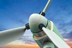 Γεννήτρια αέρα ενάντια σε έναν όμορφο ουρανό Στοκ Εικόνες