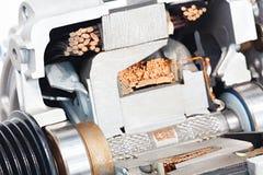 Γεννήτρια ηλεκτρικών κινητήρων σε μια επαγωγή στατών τυλίγματος αγκύρων τμημάτων στοκ εικόνα με δικαίωμα ελεύθερης χρήσης