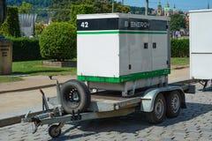 Γεννήτρια diesel στο ρυμουλκό για τη ηλεκτρική δύναμη έκτακτης ανάγκης στοκ φωτογραφία με δικαίωμα ελεύθερης χρήσης