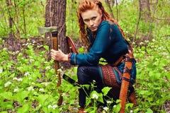Γενναία Σκανδιναβική γυναίκα στοκ φωτογραφία με δικαίωμα ελεύθερης χρήσης
