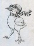Γενναίος νεοσσός cartoonish πειραματικός διανυσματική απεικόνιση