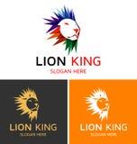 Γενναίο λογότυπο βασιλιάδων λιονταριών Στοκ Εικόνες