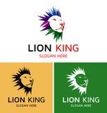Γενναίο λογότυπο βασιλιάδων λιονταριών Στοκ εικόνες με δικαίωμα ελεύθερης χρήσης