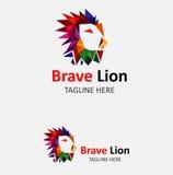 Γενναίο λογότυπο βασιλιάδων λιονταριών Στοκ φωτογραφία με δικαίωμα ελεύθερης χρήσης