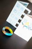 Γεννημένες κάρτες επιθυμίας μωρών Στοκ Φωτογραφία