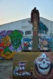 Γεντιανή Taggers, μορφή οδός-τέχνης: Γκράφιτι ειδικότητας, ομαδική εργασία Στοκ Φωτογραφία