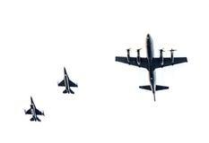 Γεράκια πολεμικό αεροσκάφος F-16 και π-3c Orion Στοκ Εικόνα