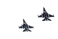 Γεράκια πολεμικό αεροσκάφος F-16 Στοκ Εικόνα