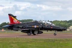 Γεράκι Τ συστημάτων της Royal Air Force RAF BAE 2 ZK018 από τη μοίρα IVR που εδρεύει RAF στην κοιλάδα Στοκ Εικόνες