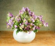 Γεράνι λιβαδιών 1 ζωή ακόμα Ανθοδέσμη των λουλουδιών λιβαδιών Στοκ Φωτογραφίες