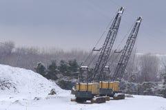 γερανοί διπλοί Στοκ εικόνες με δικαίωμα ελεύθερης χρήσης