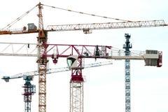 Γερανοί κατασκευής Στοκ Φωτογραφία